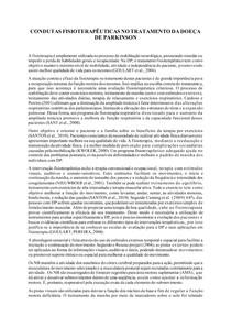 CONDUTAS FISIOTERAPÊUTICAS NO TRATAMENTO DA DOEÇA DE PARKINSON