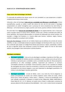 FBDG - AULAS 13 e 14 - SOCIOLOGIA/ CLÁUDIA ALBAGLI