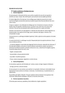 RESUMO DE AVICULTURA