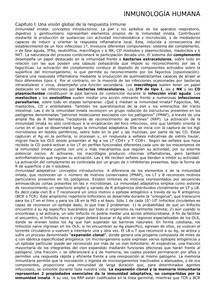 INMUNOLOGIA HUMANA Resumen del libro