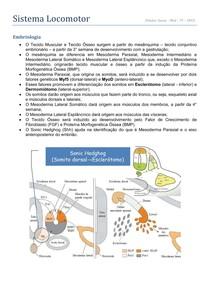 Embriologia - Locomotor