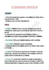 Resumo alongamento muscular