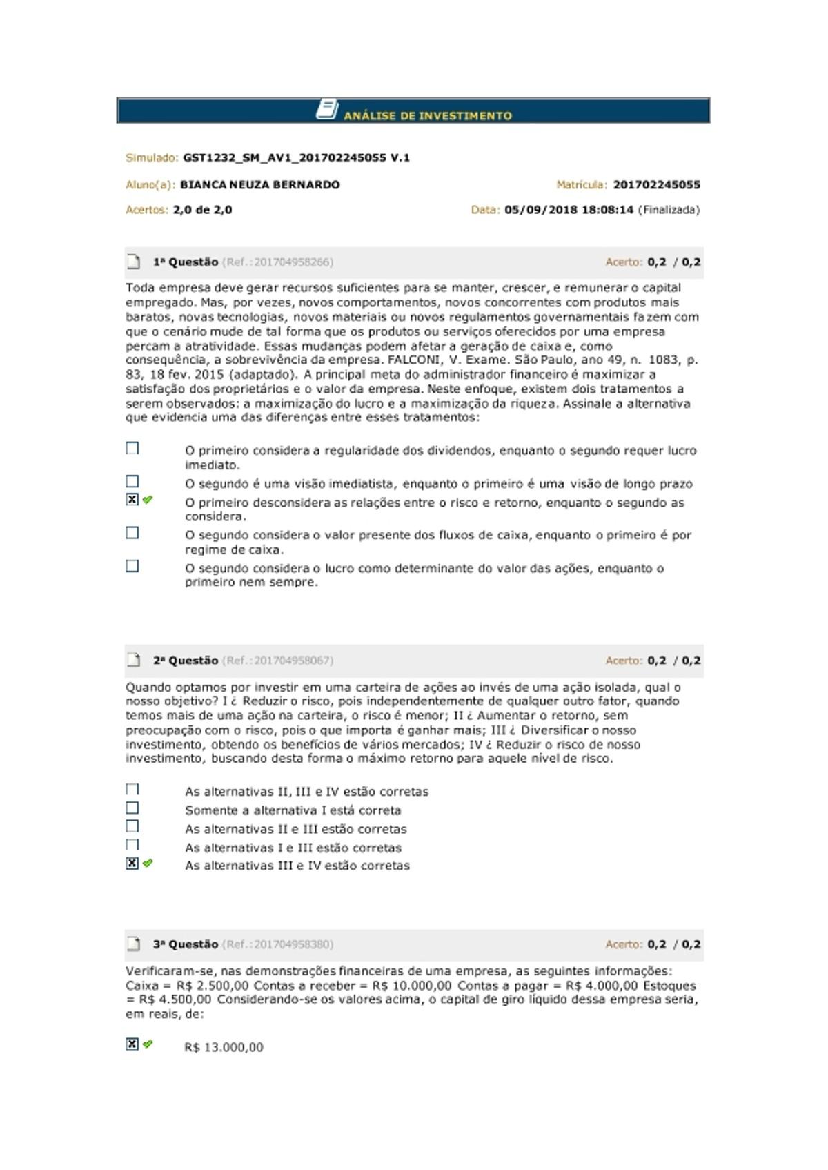 Pre-visualização do material ANÁLISE DE INVESTIMENTO - página 1