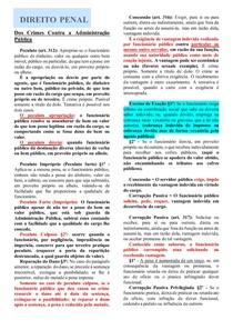 DOS CRIMES CONTRA A ADMINISTRAÇÃO - DIREITO PENAL