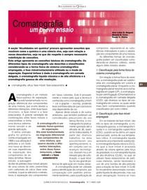 artigo cromatografia um breve ensaio