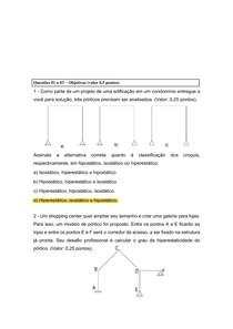 Prova Análise das Estruturas II