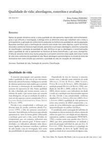 Artigo - Qualidade de vida abordagens conceitos e avaliacao
