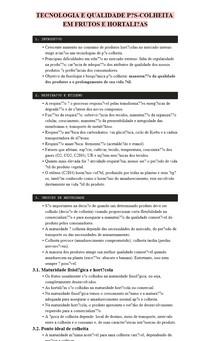 RESUMO - TECNOLOGIA E QUALIDADE PÓS-COLHEITA EM FRUTOS E HORTALIÇAS