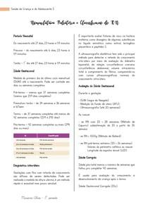 Nomenclatura pediátrica e Classificação do RN