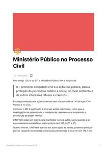 Ministério Público no Processo Civil