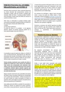 Fisiopatologia da Anosmia - COVID 19
