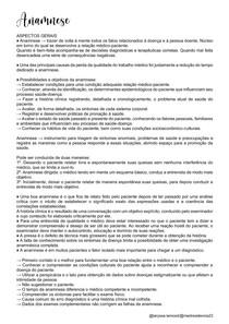 Anamnese - Semiologia Médica