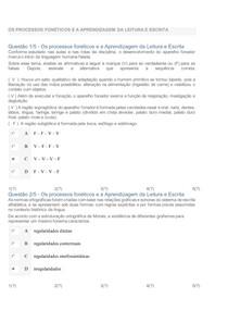 OS PROCESSOS FONÉTICOS E A APRENDIZAGEM DA LEITURA E ESCRITA