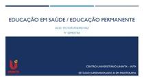 EDUCAÇÃO EM SAÚDE E PERMANENTE