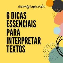 Dicas para interpretação de textos