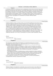 RESPOSTAS UNIDADE II - ENG. E MEIO AMBIENTE