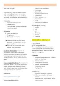 ODONTOPEDIATRIA - documentação ortodôntica