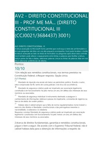 AV2 - Direito Constitucional