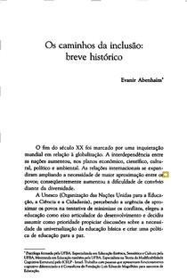 ABENHAIM, Evanir. Os caminhos da Inclusão breve histórico