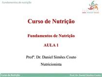 Slide - Fundamentos da Nutrição - Ferlagos