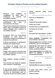 Psicologia e Manejo do Paciente com Necessidades Especiais