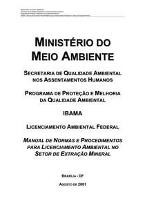 Normas para Licenciamento Ambiental - IBAMA