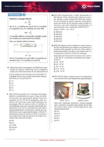 Testes Potência e energia elétrica
