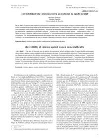 (In)visibilidade da violência contra as mulheres na saúde mental (1)