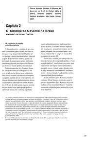 Antonio Octávio Cintra - Sistema de Governo no Brasil (2)