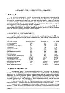 CAPÍTULO 14 - PROTOCOLOS ORIENTADOS A CARACTER