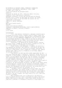 Francesco Carnelutti - As Misérias do Processo Penal - Ano 1995