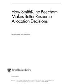 SharpeKeelin How Smith Kline Beecham Make Decisions RD HBR