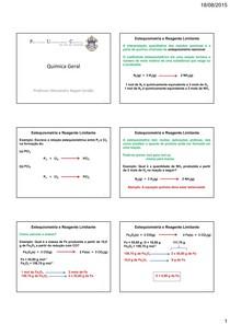G1 Aula 3   Estequiometria e Reagente Limitante
