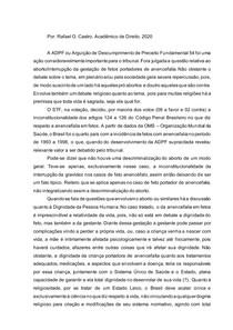 BREVE DISSERTAÇÃO QUANTO À ADPF 54 E O ABORTO DE FETOS ACENCEFALO