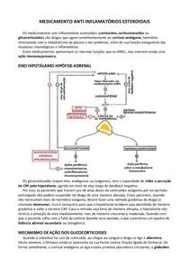 Resumo anti-inflamatórios esteroidais