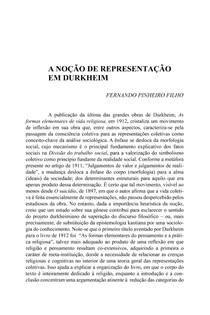 a noção de representação em Durkheim