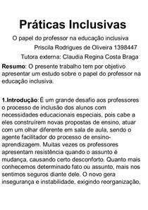 Práticas Inclusivas paper pri