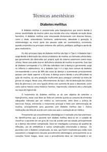 Anestésicos locais e diabetes mellitus