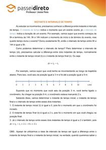 Resumo 03 - Instante e Intervalo de Tempo
