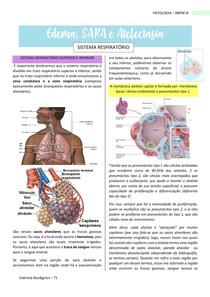 Atelectasia, derrame pleural, edema e SDRA, PATOLOGIA - BBPM III