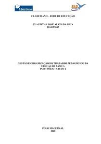 Atividade - Portifólio - 2º Ciclo - Claretiano