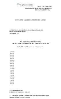 ESCOLA DE EDUCAÇÃO PROFISSIONAL SENAC RIO GRANDE DO SUL