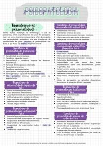 Resumos Transtornos de personalidade - Psicopatologia