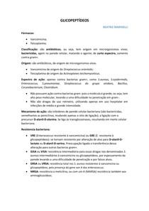 GLICOPEPTÍDEOS FARMACOLOGIA