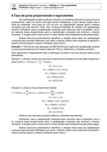 Capitulo 4 - Taxas Equivalentes de juros