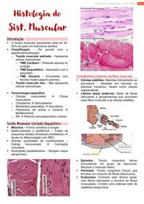 Histologia do Sistema Muscular