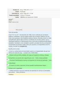 Ética e Administração Pública Exercício de Fixação Modulo III