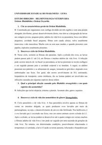 ESTUDO DIRIGIDO - Ordem Rhabditida e Oxyurida docx