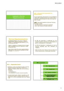 Aula 9 - Legislação e Normas regulamentadoras