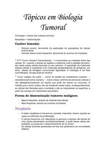 Tópicos em Biologia Tumoral